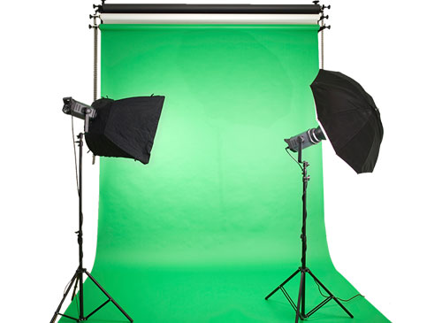 green screen studio setup
